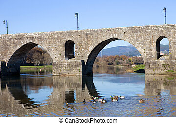 Ponte de Lima - roman bridge of Ponte de Lima in Portugal