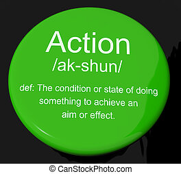 Action Definition Button Showing Acting Or Proactive