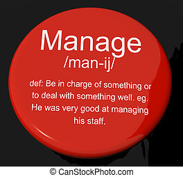 Manage Definition Button Shows Leadership Management And Supervision