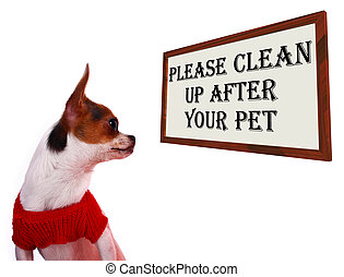 Please Clean Up After Your Pet Dog Sign - Please Clean Up...