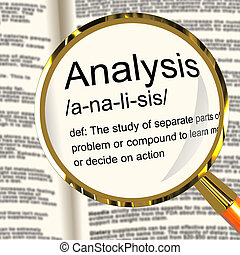 Analysis Definition Magnifier Showing Probing Study Or...