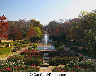 Botanic Garden - The Rose Garden of the Botanic Garden in...