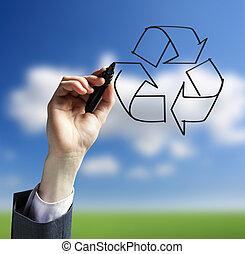 reciclaje, logotipo