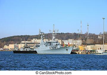 Corvette warship - A corvette warship belonging to the...