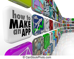 How to Make an App Software Tile Wall of Apps Icons - How to...