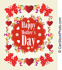 Happy Mothers Day background - Happy Mothers day butterfly...