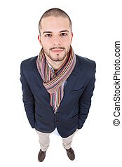 casual man - young casual man full body in a white...