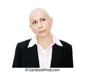 Woman cancer patient undergoing chemotherapy - Chemotherapy...