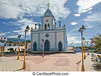 Church in the Andes in Ecuador