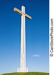 White Christian Cross - The Papal Cross in Phoenix Park,...