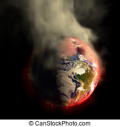Doomsday Earth On Fire - Global warming The suns energy...
