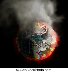 Earth On Fire Global Warming or Irradiation - Global warming...