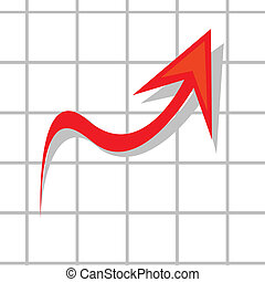 vector business graph showing profits and gains.