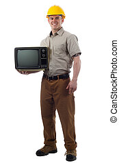 Handy Man with Television - DIY Handy Man with TV television