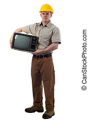 Handy Man with Television