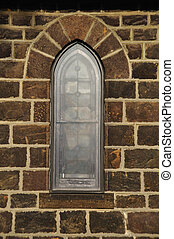 Church window - Gothic style Episcopal church window with...