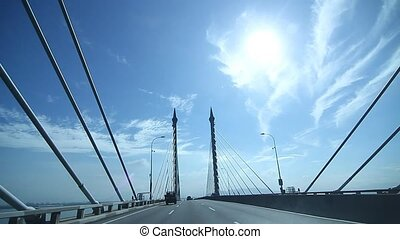 Penang Bridge from Penang Island to Seberang Prai.