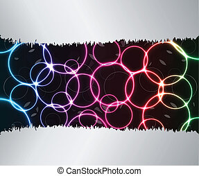 Abstract background with plasma effect