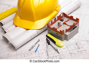Blueprints and projects of building