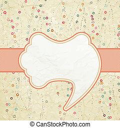 Vintage speech bubble design. EPS 8