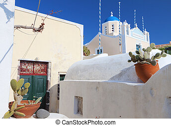 Santorini island in Greece - Traditional village of Oia at...