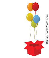 Balloons for party vector