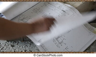 Making concrete. - The prosess of making things of concrete....