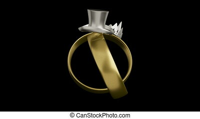 Wedding rings conceptual design - Wedding rings animation...