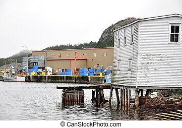 Salvage, Newfoundland - stage in outport fishing community...