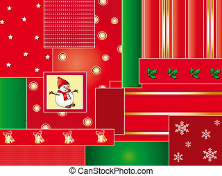Christmas background - Illustration of red christmas...