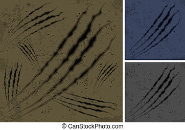 Scratches background - Claw scratches background in brown...