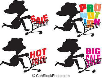 promotion - big sale - go shopping to the mall, seasonal...