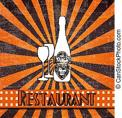 retro restaurant menu
