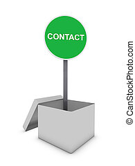 contact sign in box