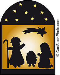 nativity silhouette illustration