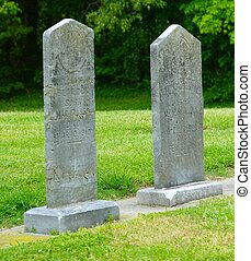 TWO 19TH CENTURY HEADSTONES - Two 19th Century headstones...