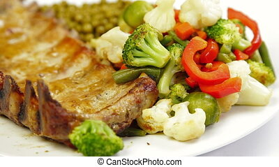 DOLLY: Fried Pork Ribs - Fried Pork Ribs With Vegetables,...