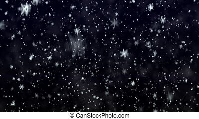 New Year's frosty background - Snowflakes on a dark blue...