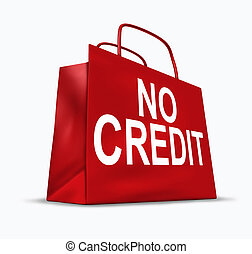 no, credito, símbolo