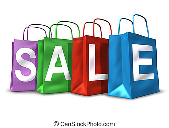 Shopping Bags Sale Symbol - Shopping bags with the word sale...