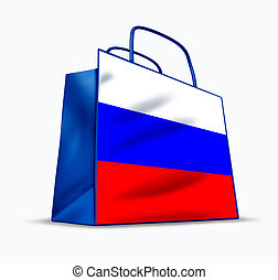 Russian market - Russian shopping symbol represented by a...