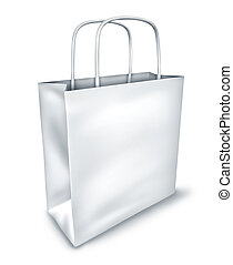 Blank White Shopping Bag Top View - Blank shopping bag...