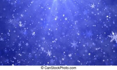 New Year's frosty background - Snowflakes and stars. New...