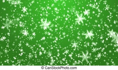 Christmas background - New year - falling snow on a green...
