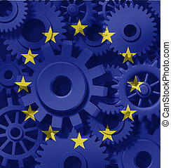 Europe Economy Symbol - Europe and European union economy...
