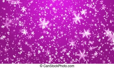 Christmas background - Snowflakes on a pink background. A...