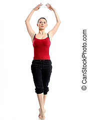 Girl in sportswear doing sport exercises