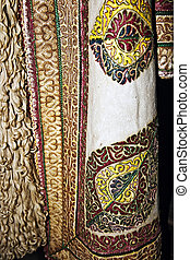 Traditional Romanian folk costume.Detail 17 - Old...