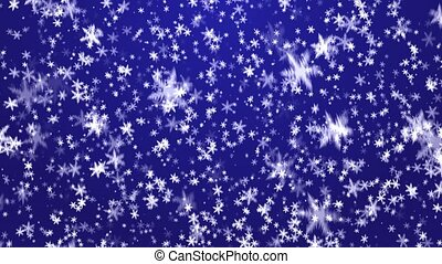 Snowfall - New Years frosty background