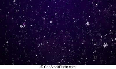 Snowflakes and stars New Years - the Christmas background